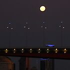 The Super Moon Over the Bolte Bridge, Melbourne, Australia by LJ_©BlaKbird Photography