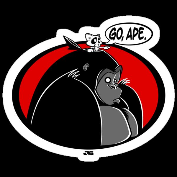 Go, Ape. (colour) by jayveezed