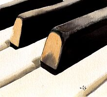 Piano Keyboard by Yvonne Carter