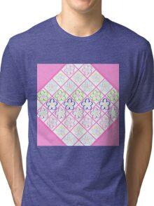 Freckled Flowers Quilt Tri-blend T-Shirt