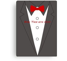 Bow Ties are Cool Tux Canvas Print