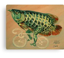Dragon Fish on a Ghost Bike Canvas Print