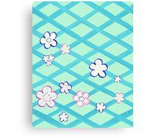 Baby Blue Flower Garden Canvas Print