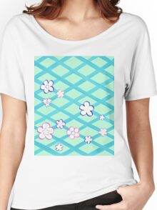 Baby Blue Flower Garden Women's Relaxed Fit T-Shirt