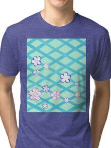 Baby Blue Flower Garden Tri-blend T-Shirt
