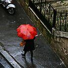 Le Parapluie Rouge by Virginia Kelser Jones