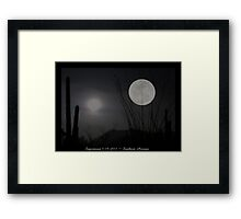 "Super ""Desert"" Moon in Southern Arizona Framed Print"