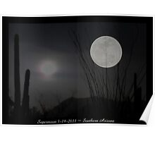 "Super ""Desert"" Moon in Southern Arizona Poster"