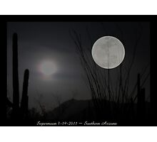 "Super ""Desert"" Moon in Southern Arizona Photographic Print"