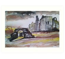 'Ruined Hunting Lodge - Barden Tower' Art Print
