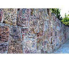 Autograph Wall Photographic Print