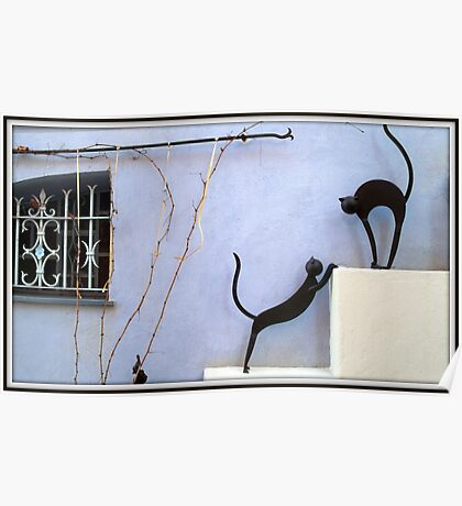 Stunning window and sculptures Poster