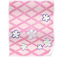 Baby Pink Flower Garden Poster