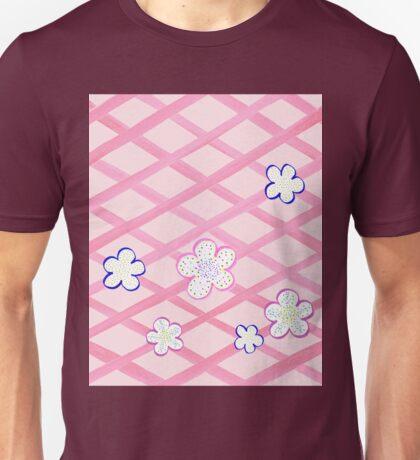 Baby Pink Flower Garden Unisex T-Shirt