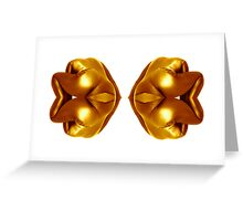 gold mirror Greeting Card