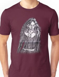 Scratchy-Etched Girl Unisex T-Shirt