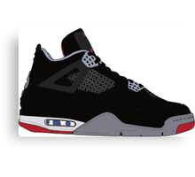 "Air Jordan IV (4) ""Bred"" Canvas Print"