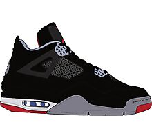 "Air Jordan IV (4) ""Bred"" Photographic Print"