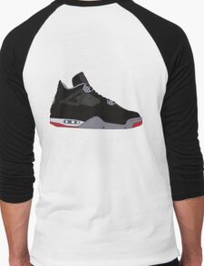 "Air Jordan IV (4) ""Bred"" Men's Baseball ¾ T-Shirt"