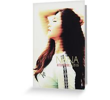 Nana - AFTERSCHOOL - KPOP - GLITCH EDIT (TEXT) Greeting Card