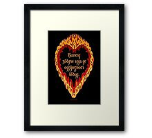 The Night is Dark and Full of Terrors (Valyrian) Framed Print