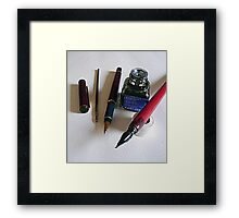Pens....past and reality Framed Print