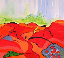 Landscape in Abstract by Sesha