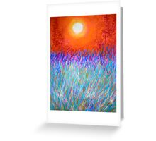 Evening Glory. Greeting Card