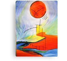 Abstract Landscape Composition Canvas Print