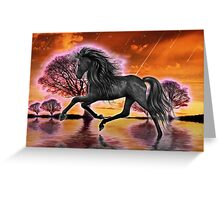 Run Wild .. Run Free Greeting Card