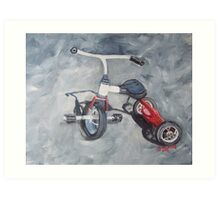 Original Oil Painting - First Wheels Art Print