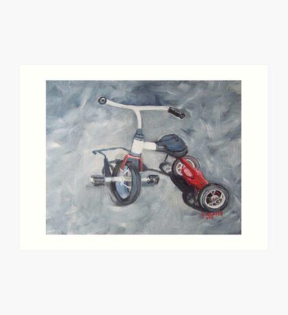 Original Oil Painting - First Wheels Art Print