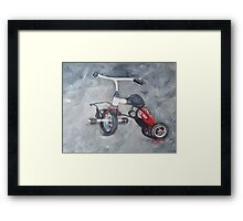 Original Oil Painting - First Wheels Framed Print