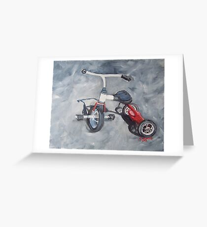 Original Oil Painting - First Wheels Greeting Card