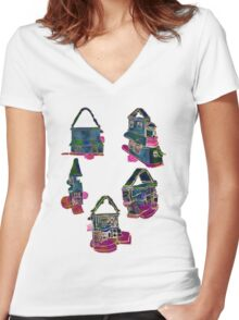Views of a Dollhouse Women's Fitted V-Neck T-Shirt