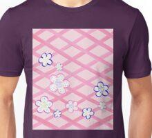 Baby Pink Garden Flowers Unisex T-Shirt