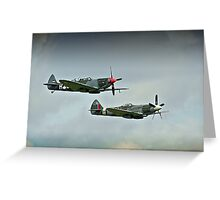 Spitfires Over Duxford Greeting Card
