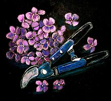 Still Life with Pruning Shears by ©Janis Zroback
