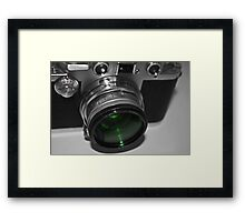 Dusty Green Lens Framed Print