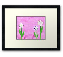Freckled Flowers In The Garden Framed Print