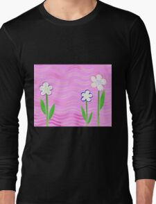 Freckled Flowers In The Garden Long Sleeve T-Shirt