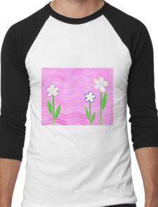 Freckled Flowers In The Garden Men's Baseball ¾ T-Shirt