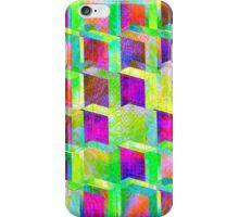 Vaporwave-3rd Dimension Acid Palette Seamless Pattern iPhone Case/Skin