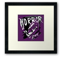 horror lover Framed Print