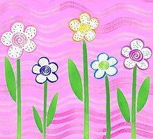 Freckled Floral Garden by Irina Sztukowski