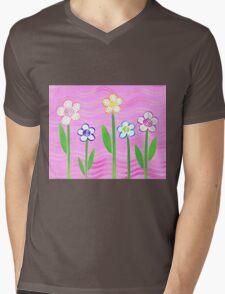 Freckled Floral Garden Mens V-Neck T-Shirt