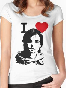 "I ""Heart"" Andrew Lee Potts Women's Fitted Scoop T-Shirt"