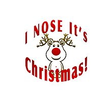 I Nose It's Christmas Photographic Print