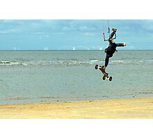Airborne Kitesurfer Photographic Print