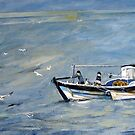 Young Sea Dogs, Staithes by Sue Nichol